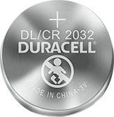 Batteria al litio Duracell DL / CR 2032